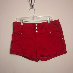 Mossimo Supply Co. Shorts - Red High- Waisted Shorts